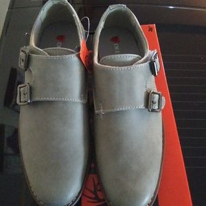 Deer Stags Size 13 Kids Gray Dress Shoes